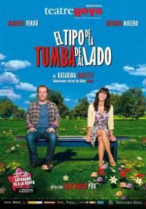 el cartel de la obra de Katarina Mazetti, adaptada al teatro por el actor Alain Ganas